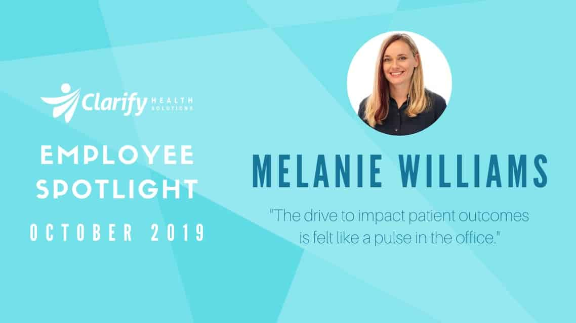 Clarify Health Employee Spotlight Melanie Williams